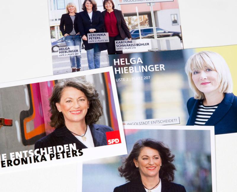 Wahlkarten Veronika Peters und Helga Hieblinger
