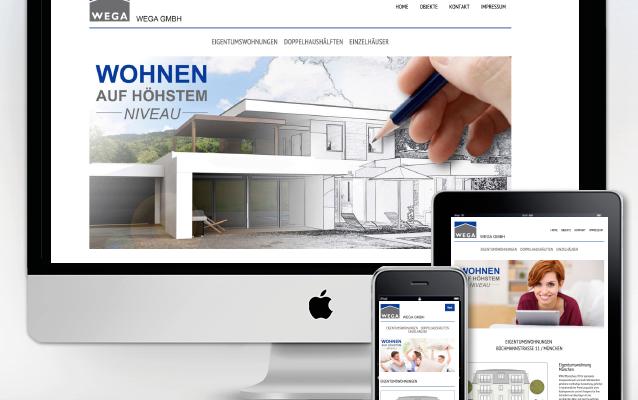 Responsives Webdesign für die WEGA GmbH
