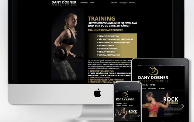 Modernes Webdesign für Personaltrainerin Dany Dobner