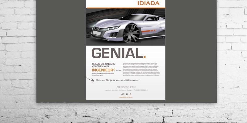 Plakative Anzeige für IDIADA