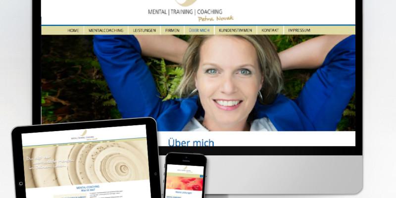 Neues Look & Feel für die Webseite Petra Novak