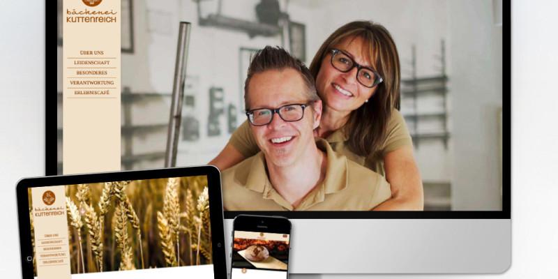 Neue Webseite für die Bäckerei Kuttenreich in Ingolstadt