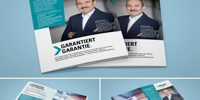 """Neue Broschüre für unseren Kunden """"Concept"""""""