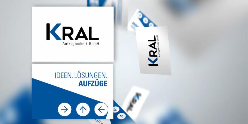 Neues Logodesign auf modernen Visitenkarten