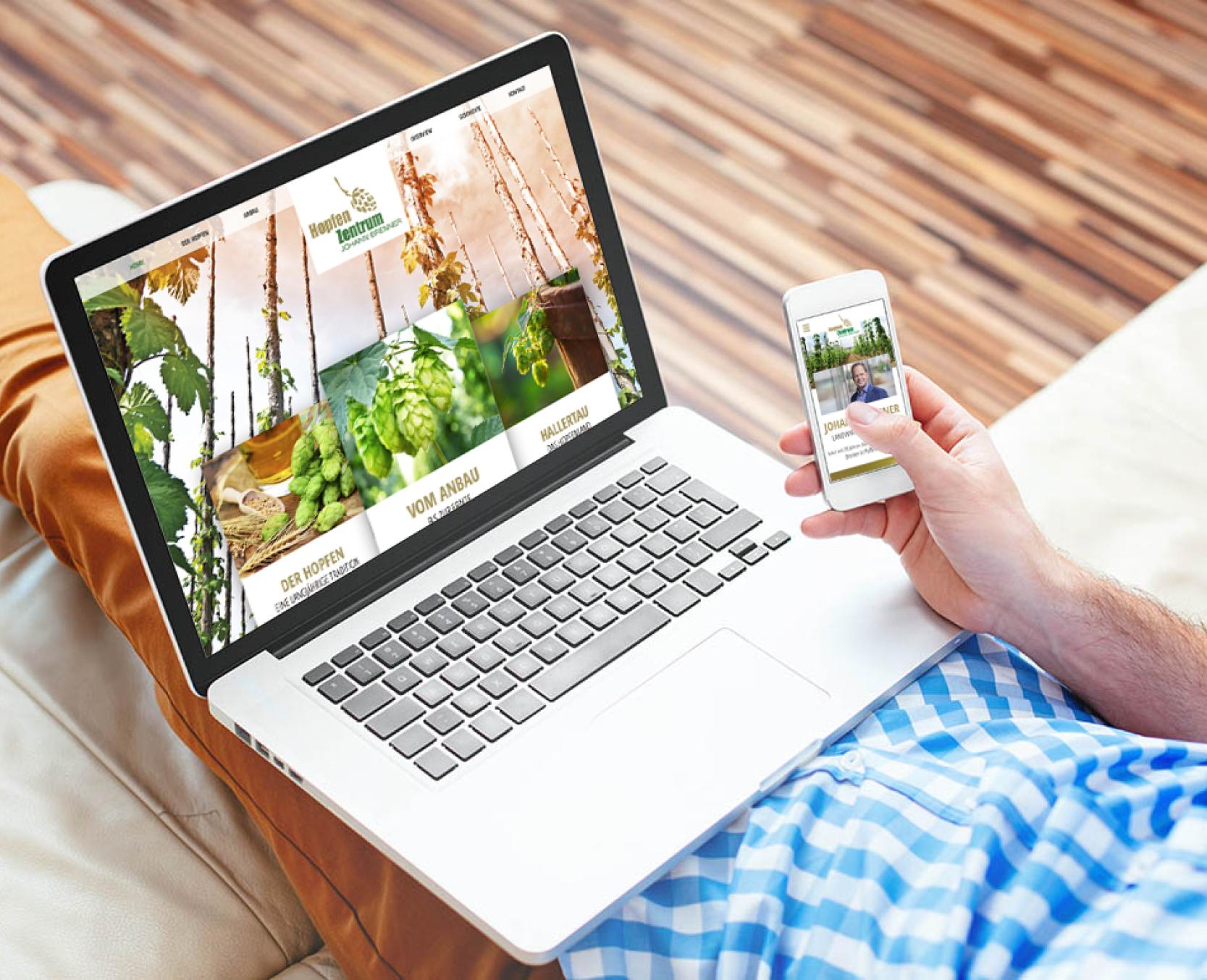 Internetseite im responsive Design