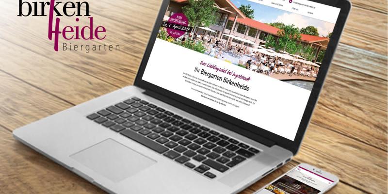 Webseite erstellen, Biergarten Birkenheide