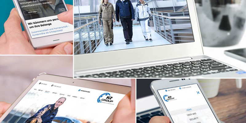 Webdesign, responsive für KR Group Ingolstadt