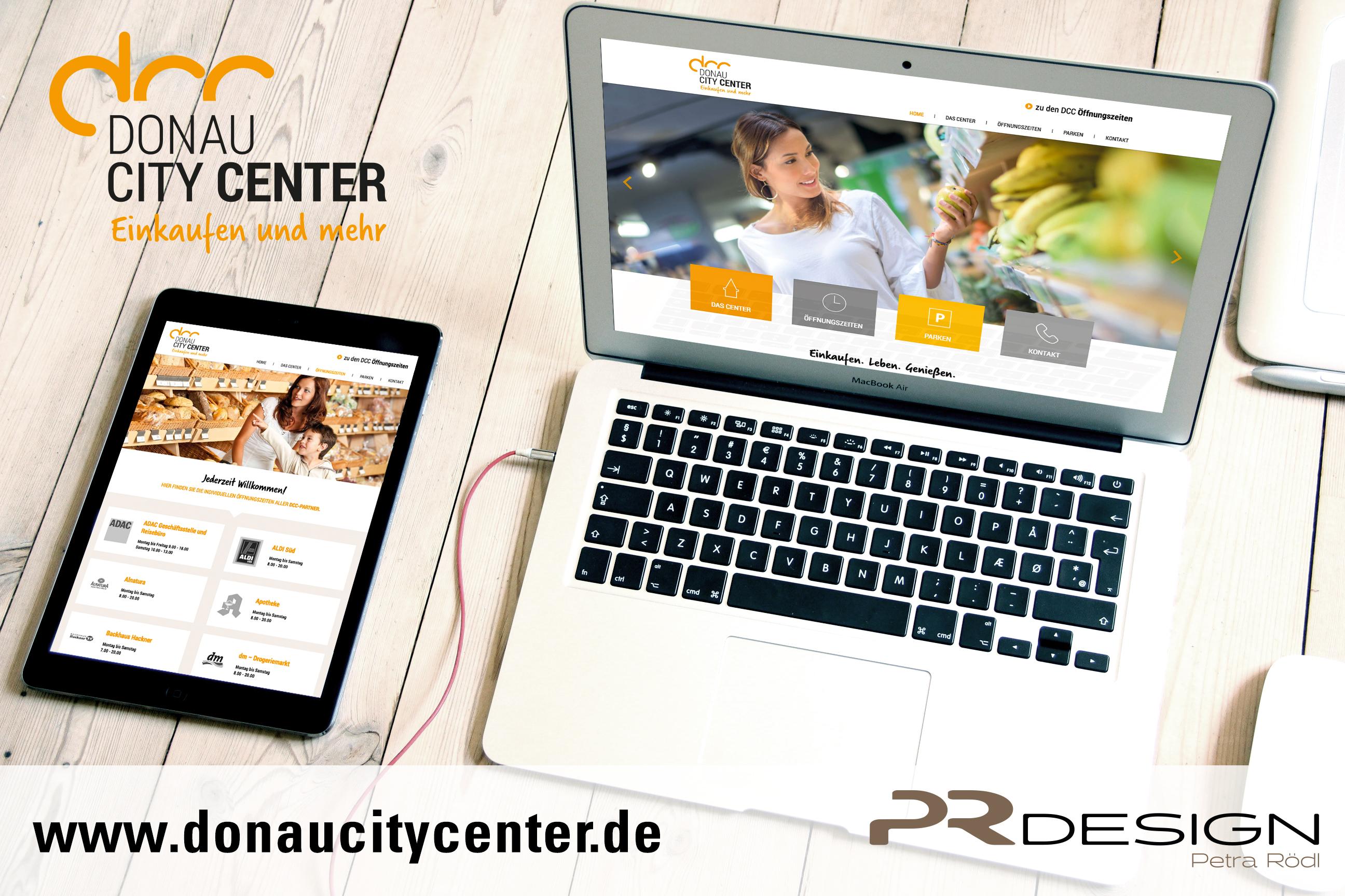 Webdesign für das DCC