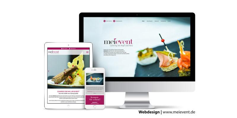 Webseite erstellen für meievent Catering