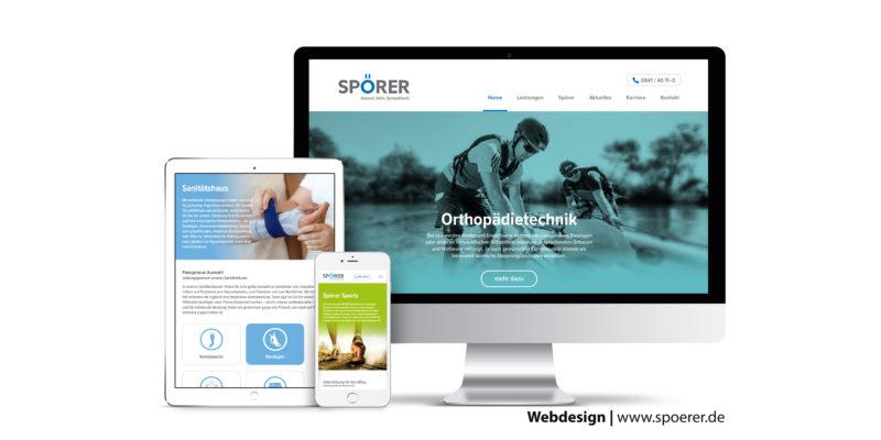 Neue Webseite für die SPÖRER AG in Ingolstadt