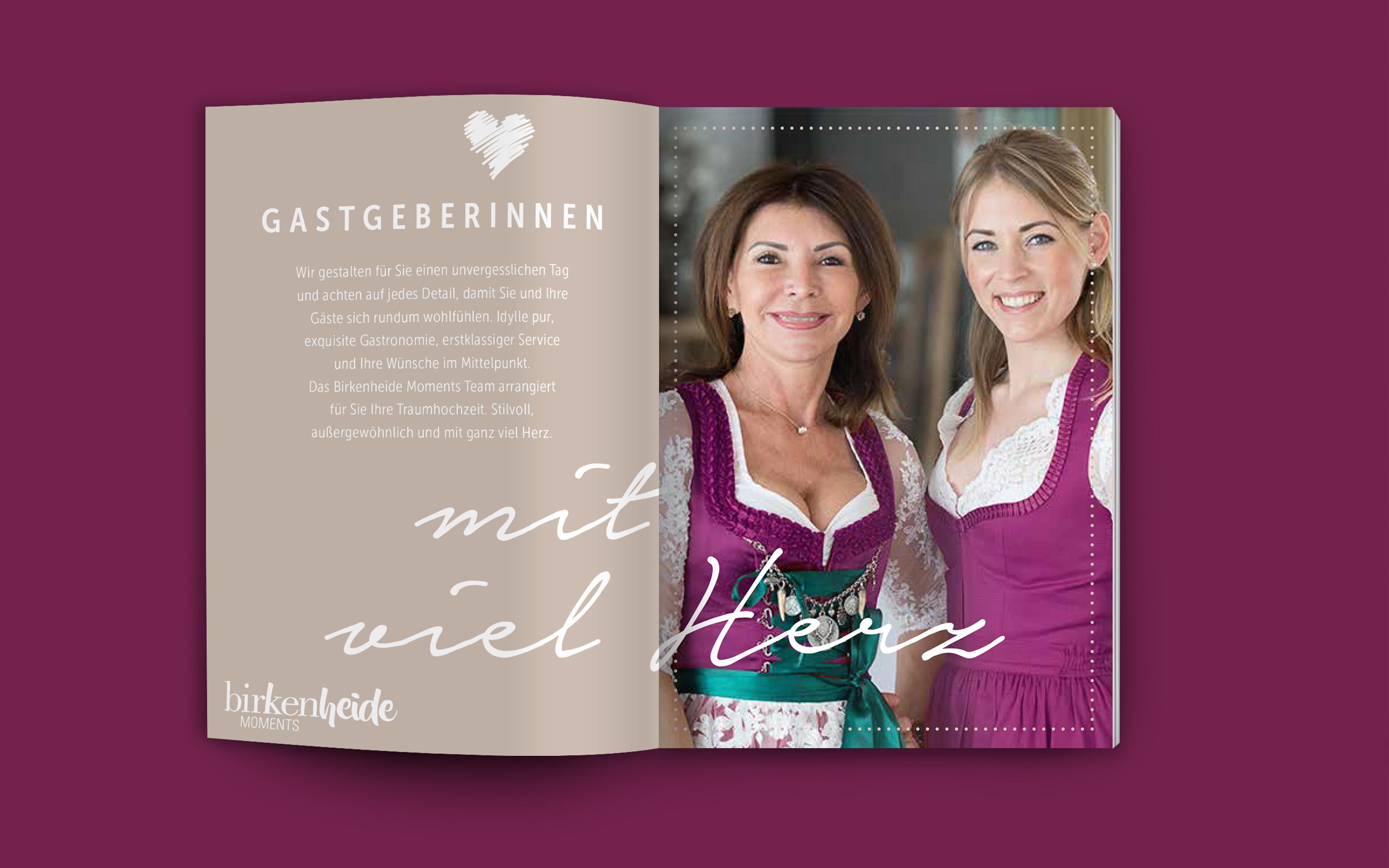 Birkenheide Moments Hochzeitsbroschüre