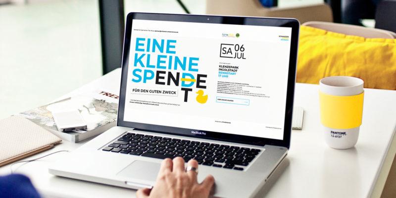 Neues Webdesign und Logo für das Schanzer Entenrennen des Lions Clubs Ingolstadt auf der Schanz