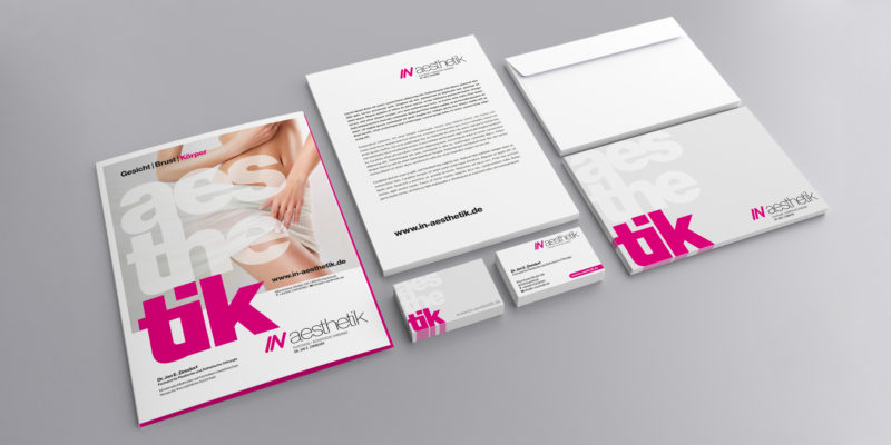 IN aesthetik – Corporate Design / Logodesign / Anzeigenkampagne