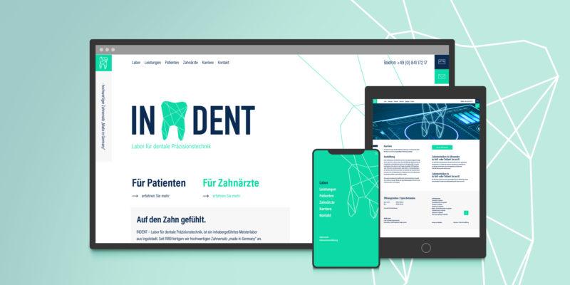 Neue Webseite, ein Bleaching für die Webseite von INDENT