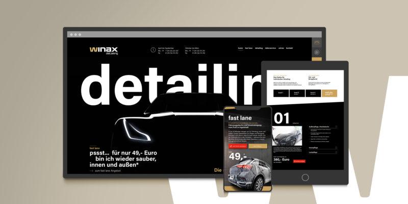 Neue Webseite für winax detailing, frisch aufpoliert mit responsive Design und on-page SEO