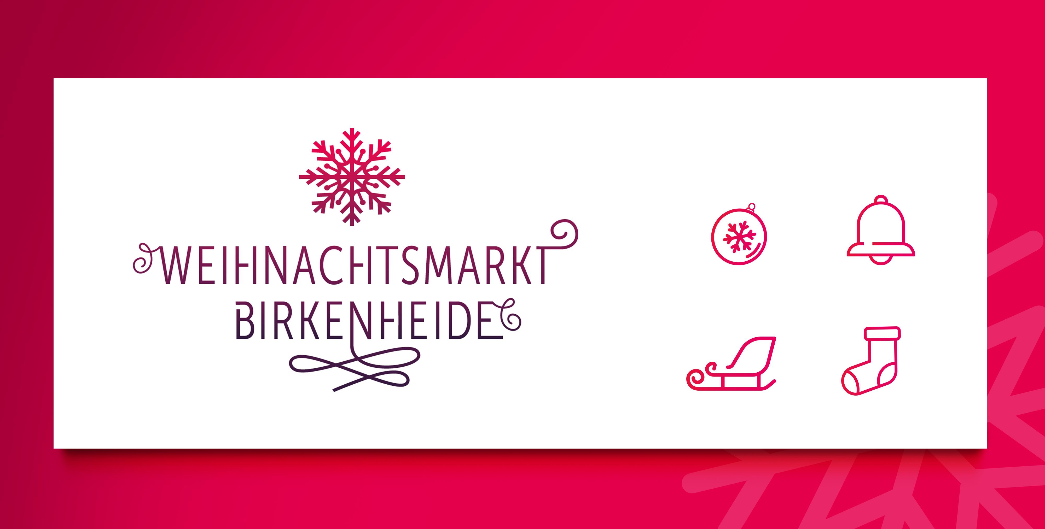 Logogestaltung Weihnachtsmarkt Birkenheide