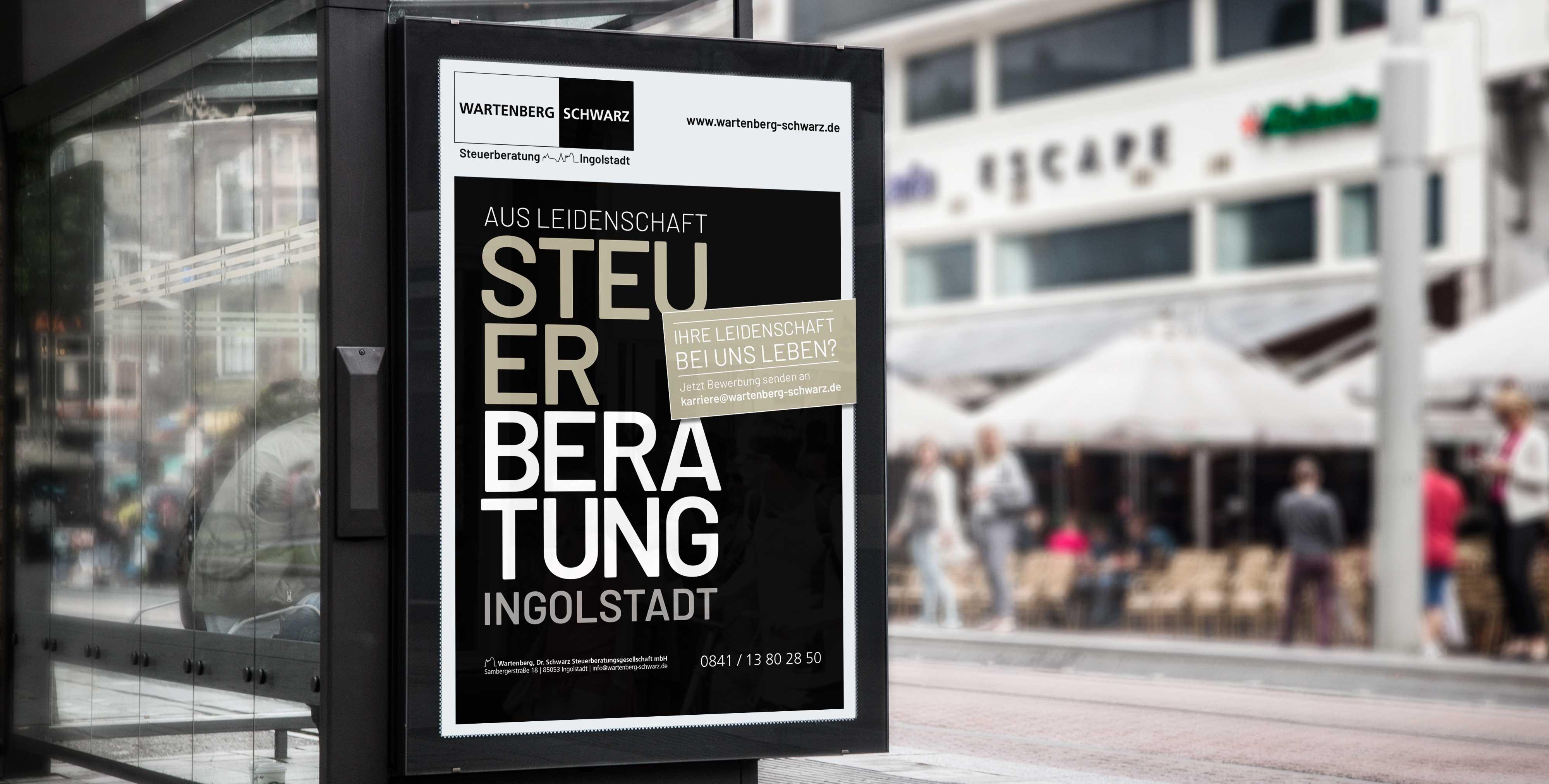 Imagekampagne für Steuerberatung in Ingolstadt Wartenberg / Dr. Schwarz