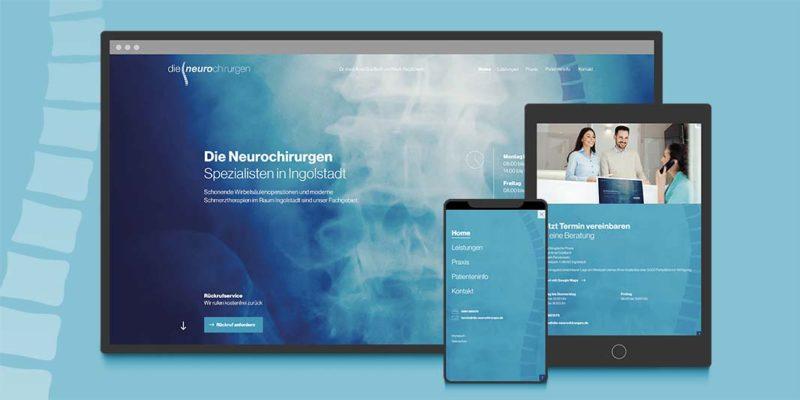 Webseite responsive für Die Neurochirurgen