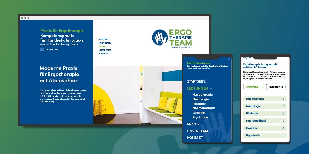 ErgoTherapieTeam Ingolstadt — Responsiv Webdesign